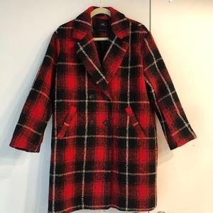 Zara Plaid Coat - worn 3 times